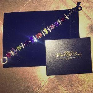 Park Lane Multi colored gem toggle bracelet